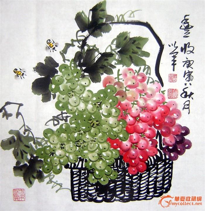 水墨古风鲜花透明素材