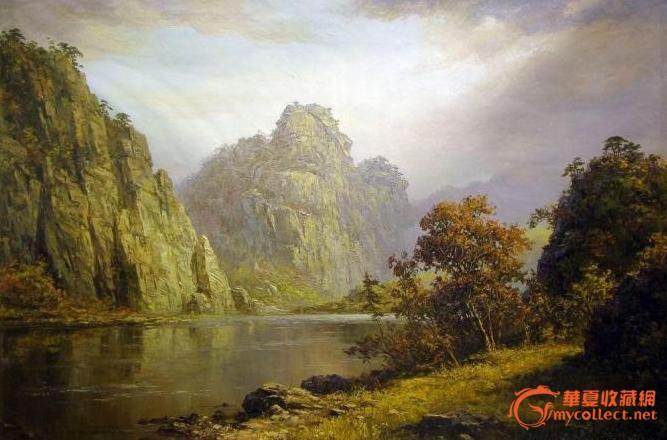 朝鲜油画-长寿山景色-人民艺术家金正中