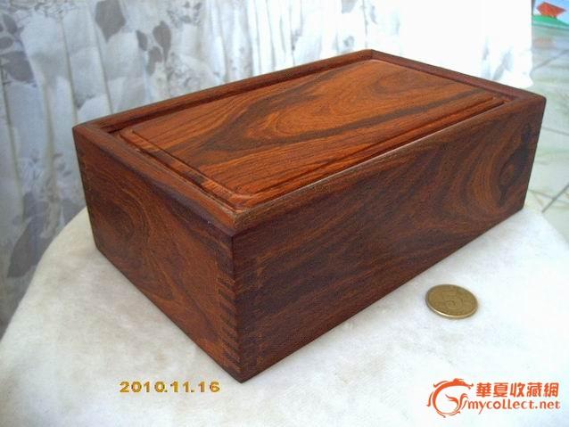 全卯榫的红檀木抽拉式小木盒(首饰盒)!超低!