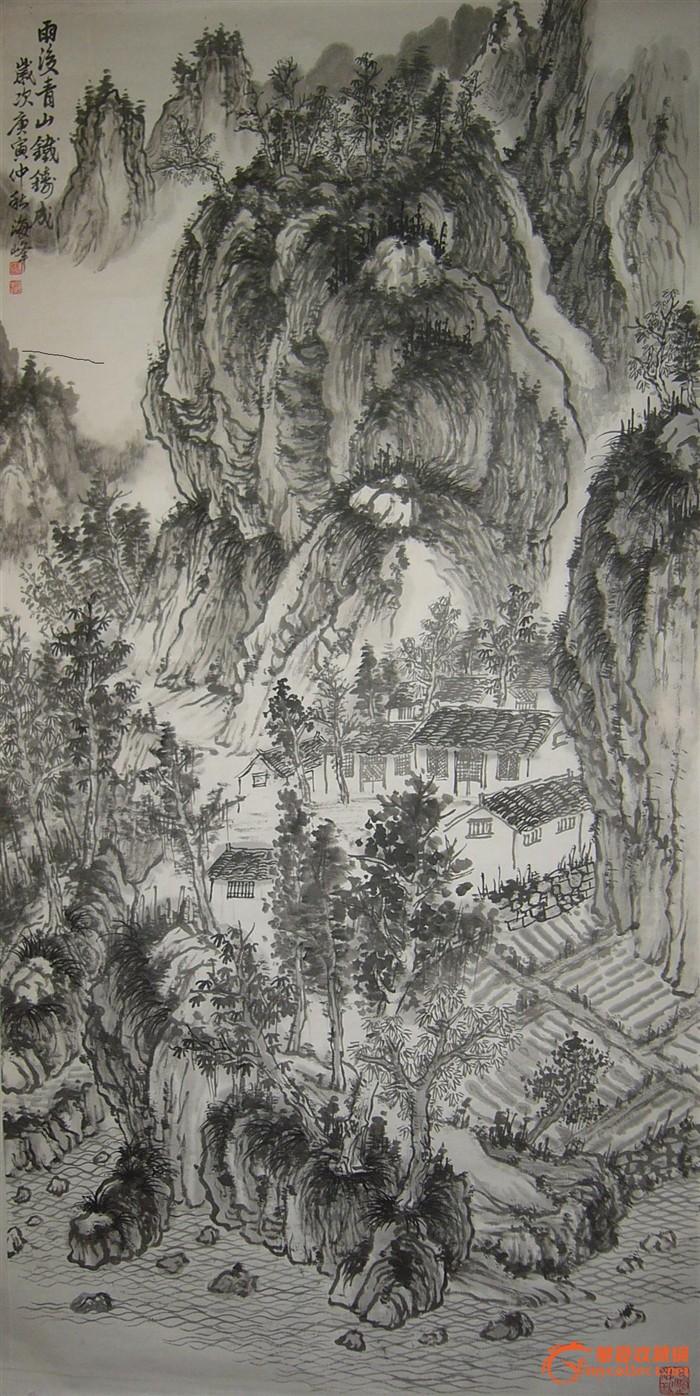 当代著名画家林海钟门生张海峰山水