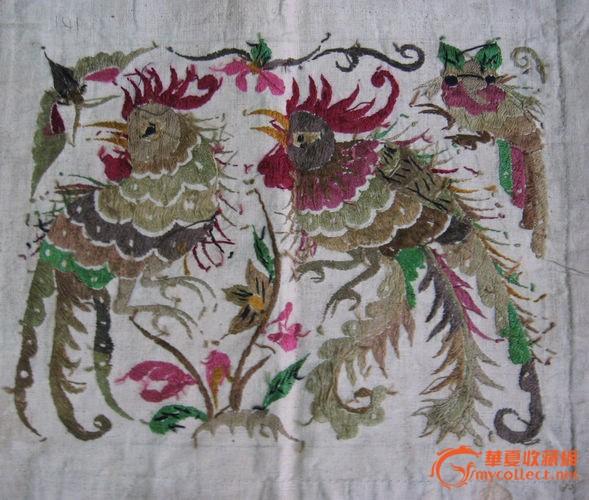 少数民族刺绣双凤凰
