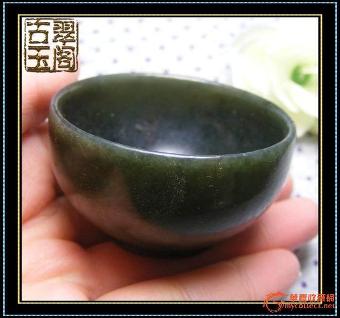 清代-和田碧玉玉质大圆玉碗
