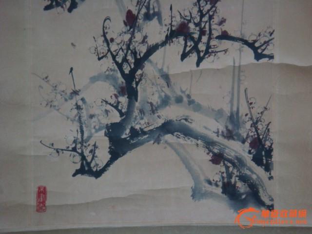 青岛著名画家胡乃中精品梅花图
