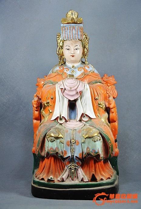 妈祖瓷塑像
