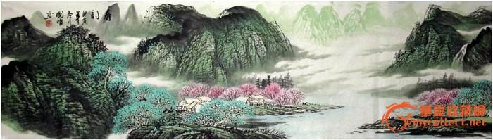 董大川·六尺山水国画