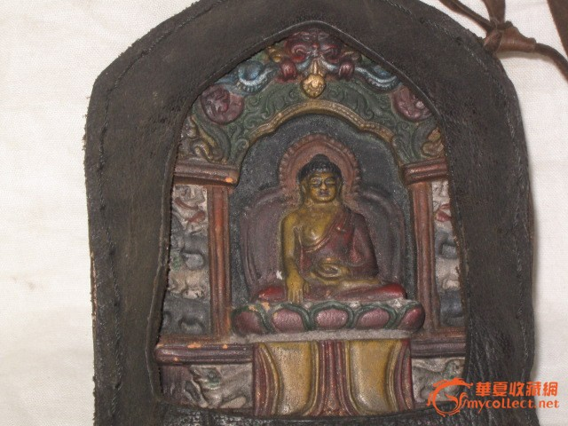 老藏族牛皮心中有佛