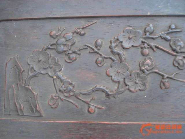 木雕梅花方盘-图2