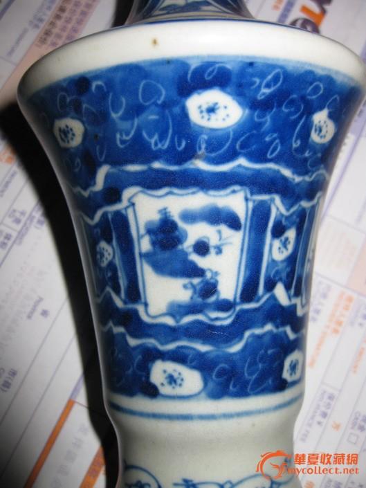 民国永和轩制款,青花瓶 图2