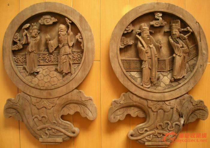 木雕圆镜1对_木雕圆镜1对价格_木雕圆镜1对图片_来自