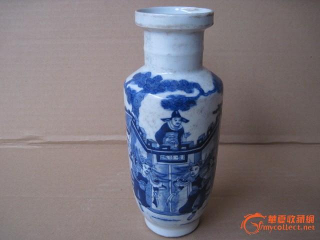 古代颈瓶子手绘纹样