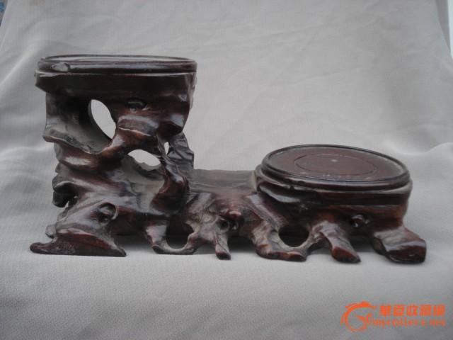 木雕摆件架