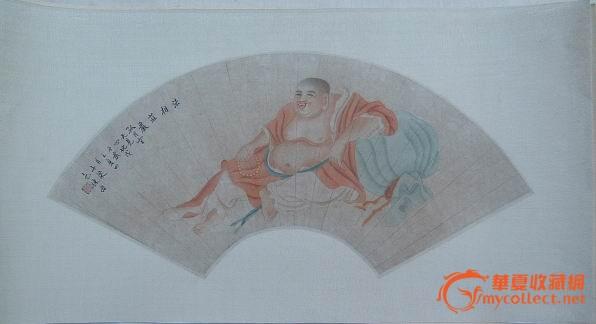 木板手绘画中国山水 两幅