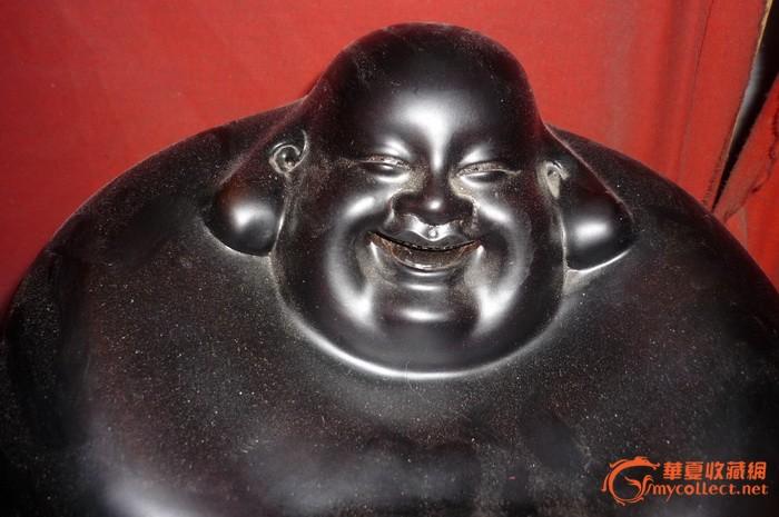 檀木雕刻 弥勒佛像
