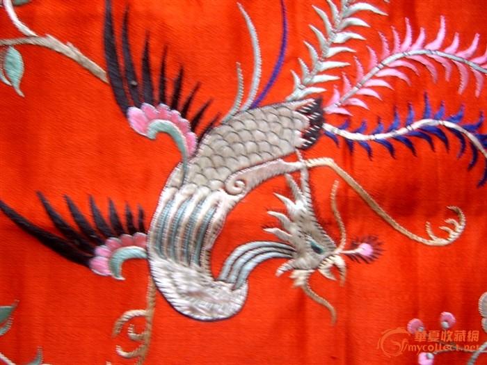 保存如新的凤凰牡丹苏绣枕绣一对图片