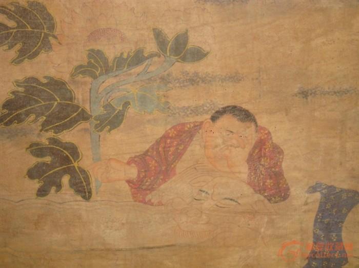 明代 绢本手绘罗汉图