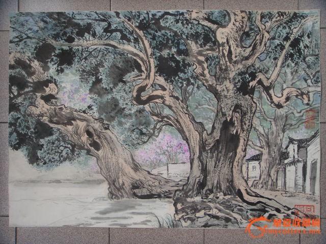 当代海上著名画家,上海中国画院(吴明耀)写生_