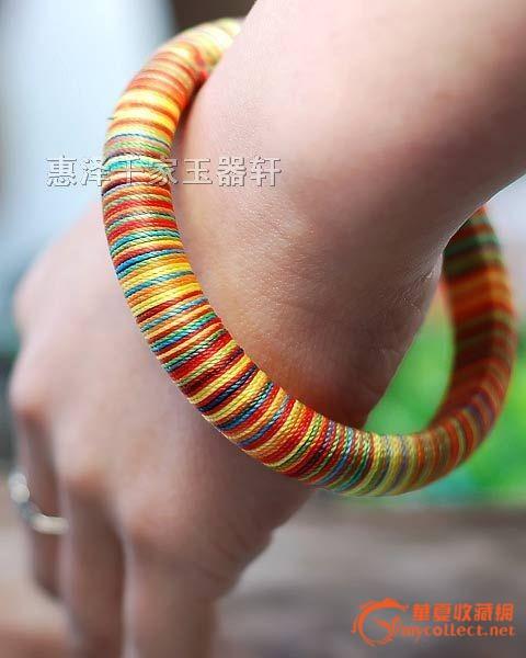 细线编织手环图解