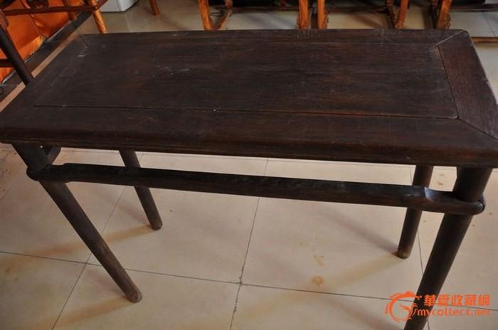 老黃花梨半桌圖片,來自藏友北京古典家具-木器-地攤交易-華夏收藏網