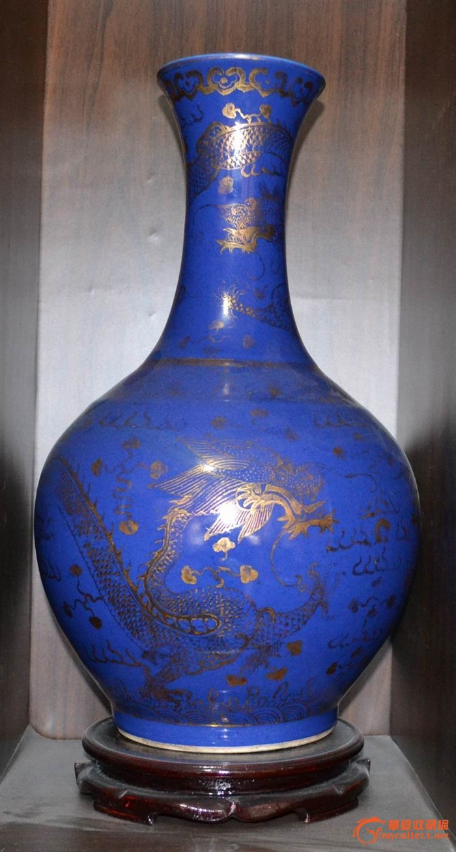 大清光绪年制梵红龙文天球瓶瓷器图片_大清光绪年制豇豆红天球瓶来自藏友家才陶瓷