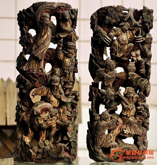 八仙人物木雕精品