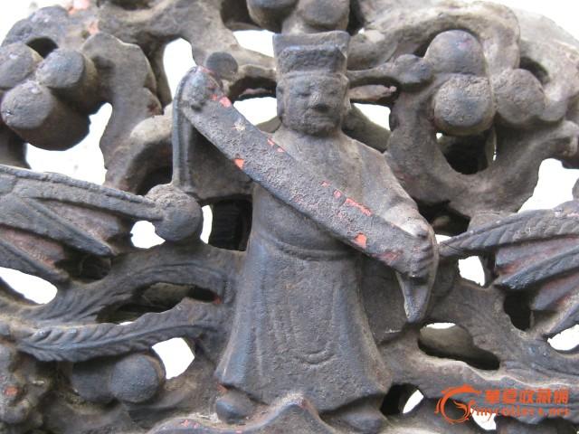 木雕八仙过海神台