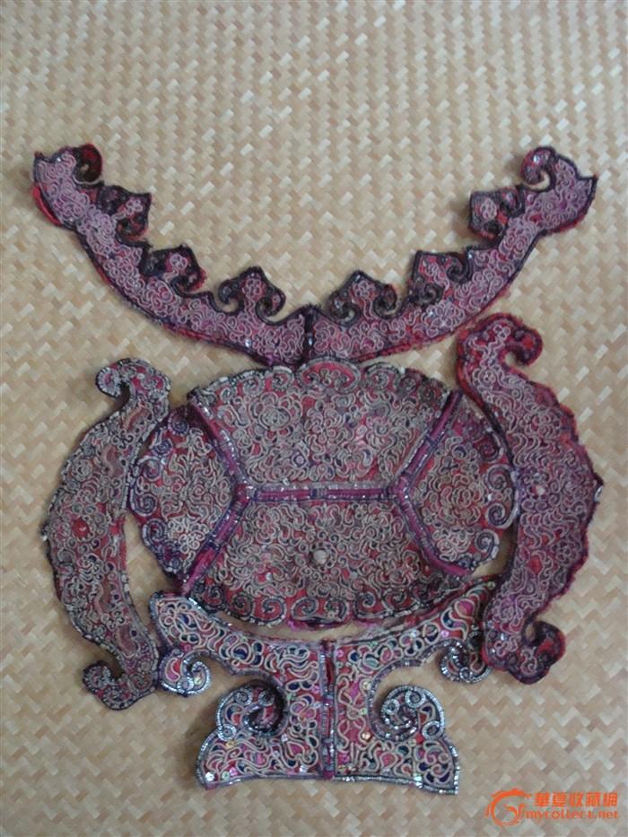 刺绣 苗族 木雕 花板图片