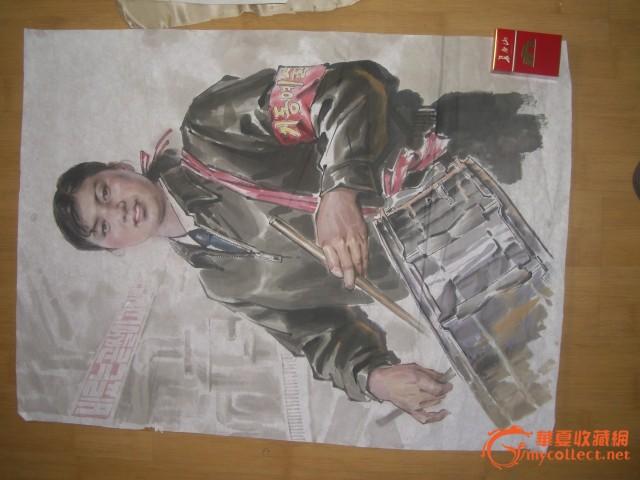 北朝鲜人物水彩画