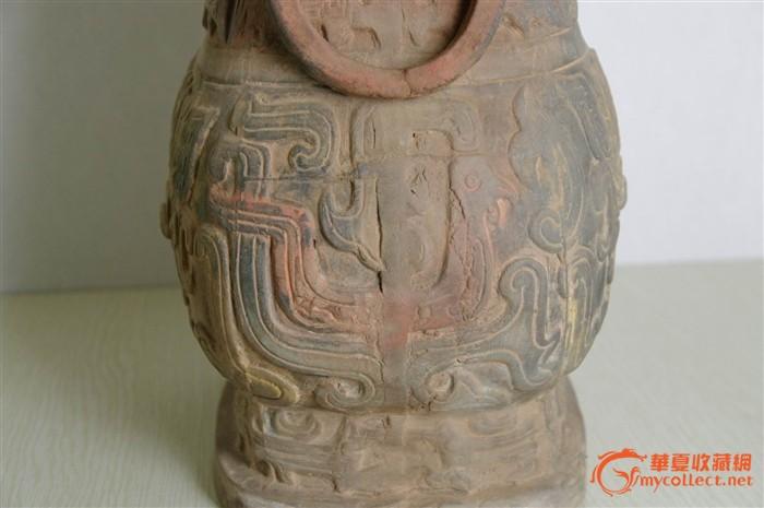 西周饕餮纹陶壶图片