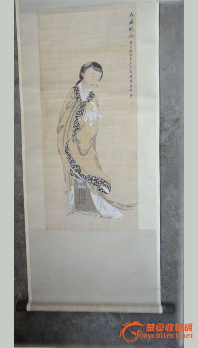 费丹旭的一幅《人面桃花》_费丹旭的一幅《人柔道霍媛媛图片