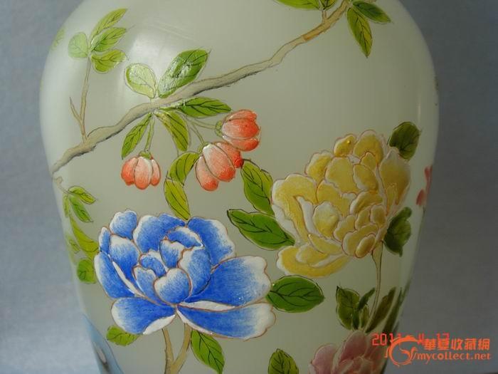 料器彩绘花瓶-图3