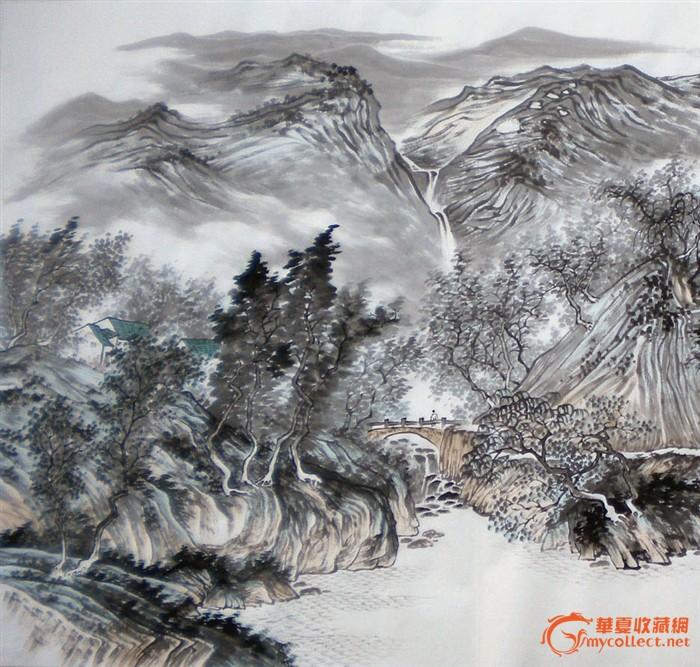 四尺横幅山水画 四尺横幅山水画价格 四尺横幅山水画图片 来自藏友山图片