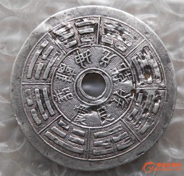 古代铜八卦葫芦型花钱图片展示