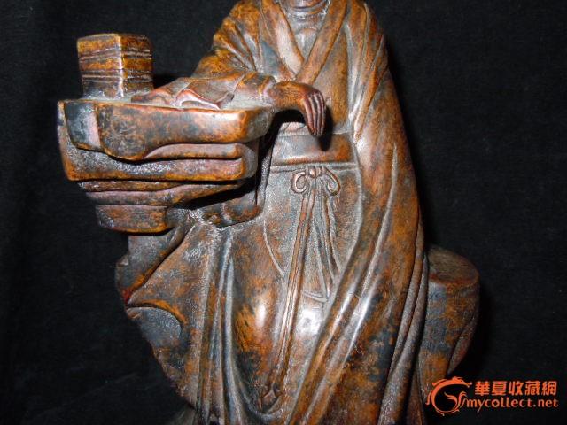 木头雕刻的文人