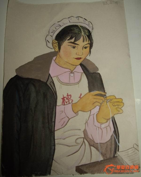文革时期手绘画稿(人物画6)