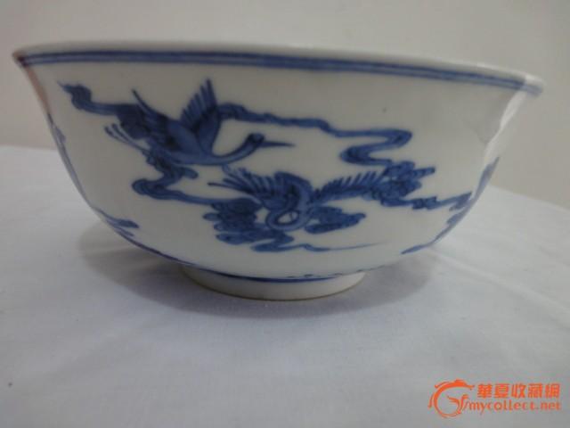 八仙过海人物纹 青花瓷碗