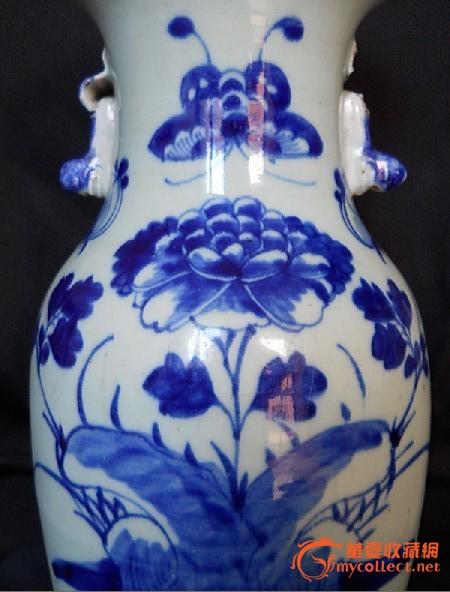 工艺美术大师手绘全景渔村青夏云水涧大花瓶