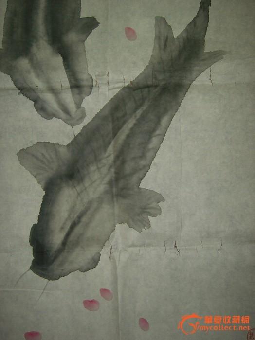 海派画家林曦明先生早年画鱼