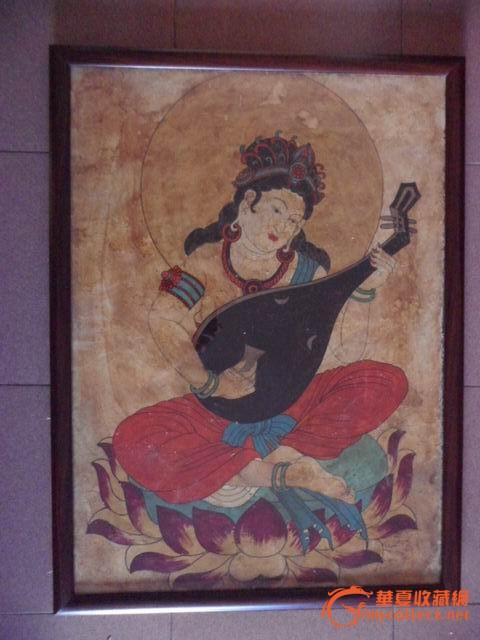 *弹琵琶壁画
