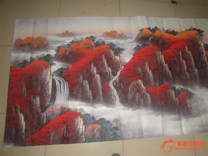 泰山风景画