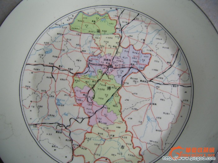 1990年淄博市地图纪念盘