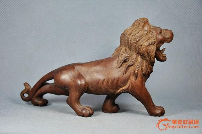 龙眼木雕狮子