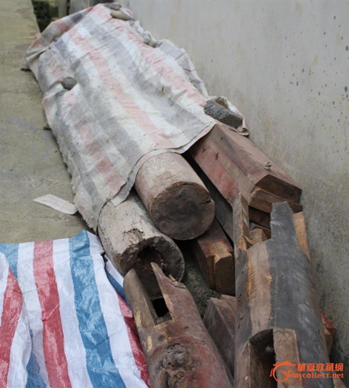 狮子牛腿/老房子拆旧/老木雕花/杂木