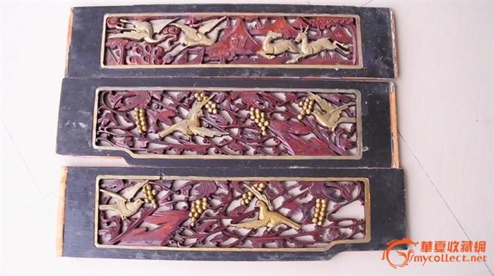 鹿鹤同春*雕花板