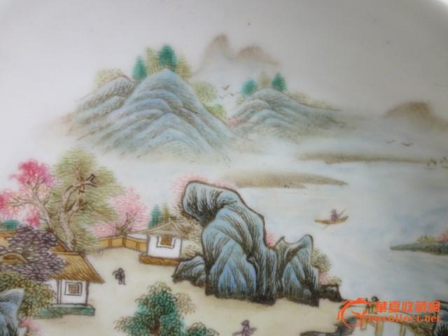 手绘盘子画风景