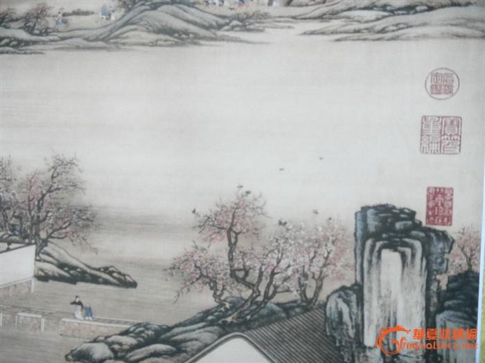 山水风景画一张;; 山水风景画笔画
