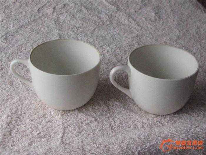 建国初手绘茶杯一对精美