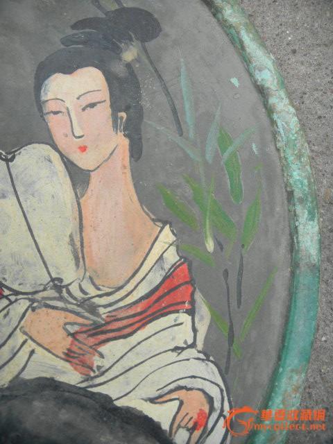 青铜手绘人物镜