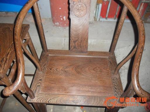 鸡翅木圈椅王【一套】柳卯结构