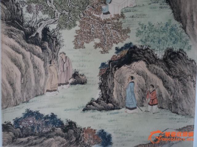 溥儒山水人物画