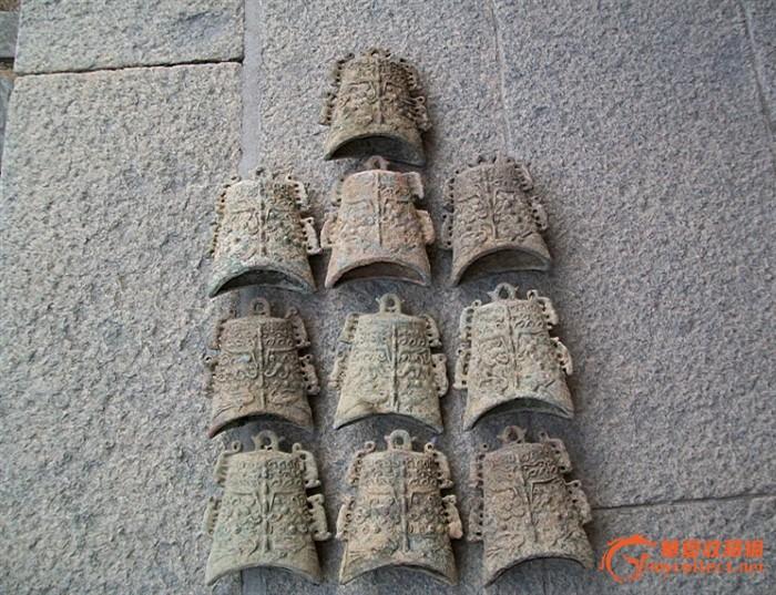 西周青铜器编钟一组10个